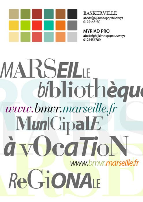 Web design bibliothèque de Marseille