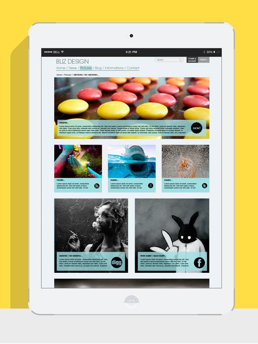 Blog d'actualités tablette