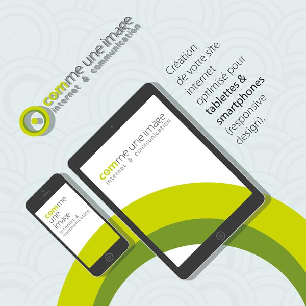 Carte de communication, offre web responsive