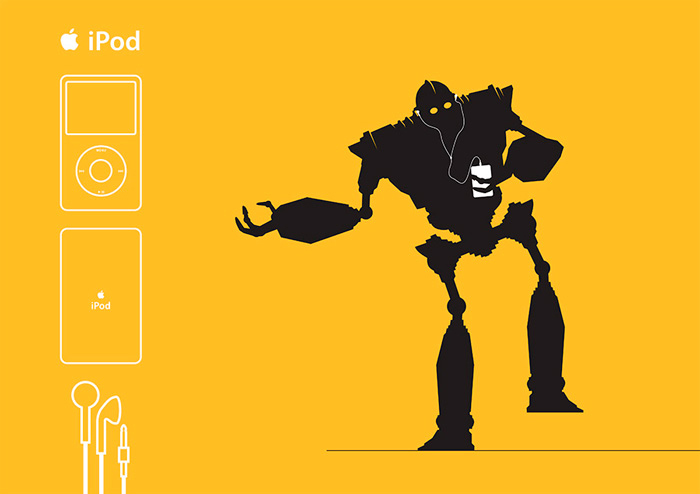 Affiche Ipod The iron Giant