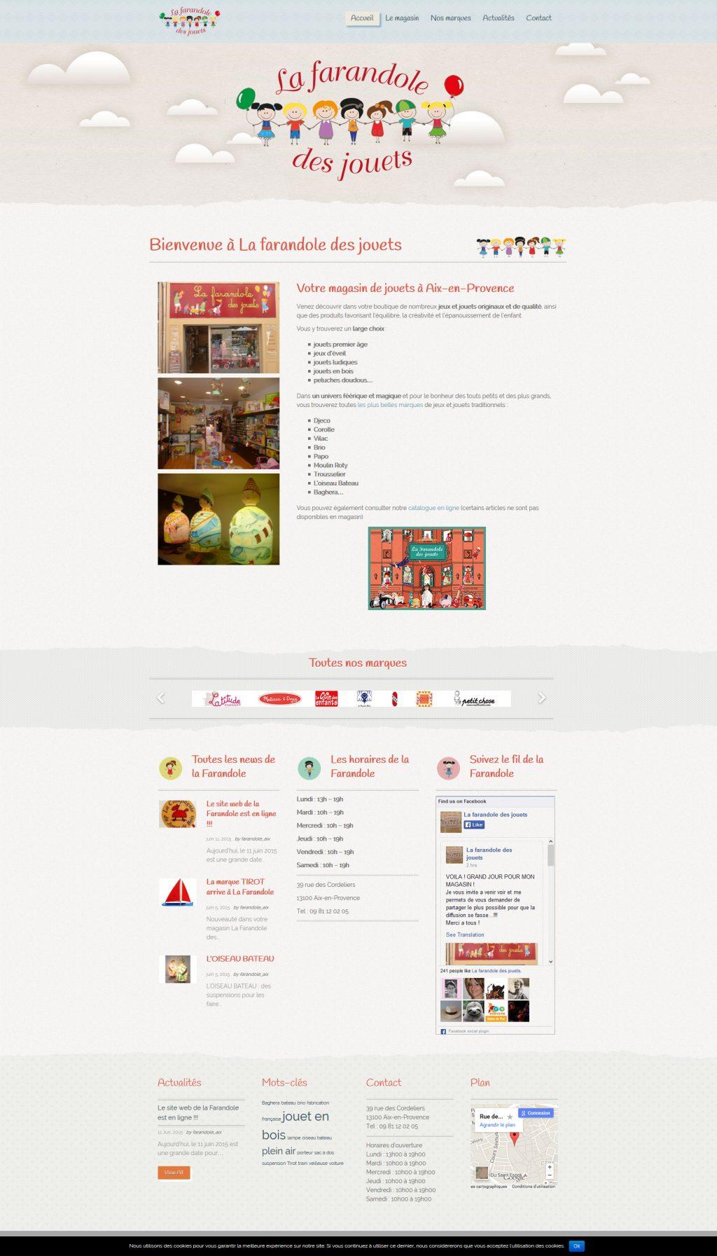 Site internet boutique de jouets